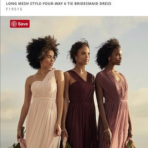 Long Bridesmaid Mesh Dress - Convertible 6 Ways